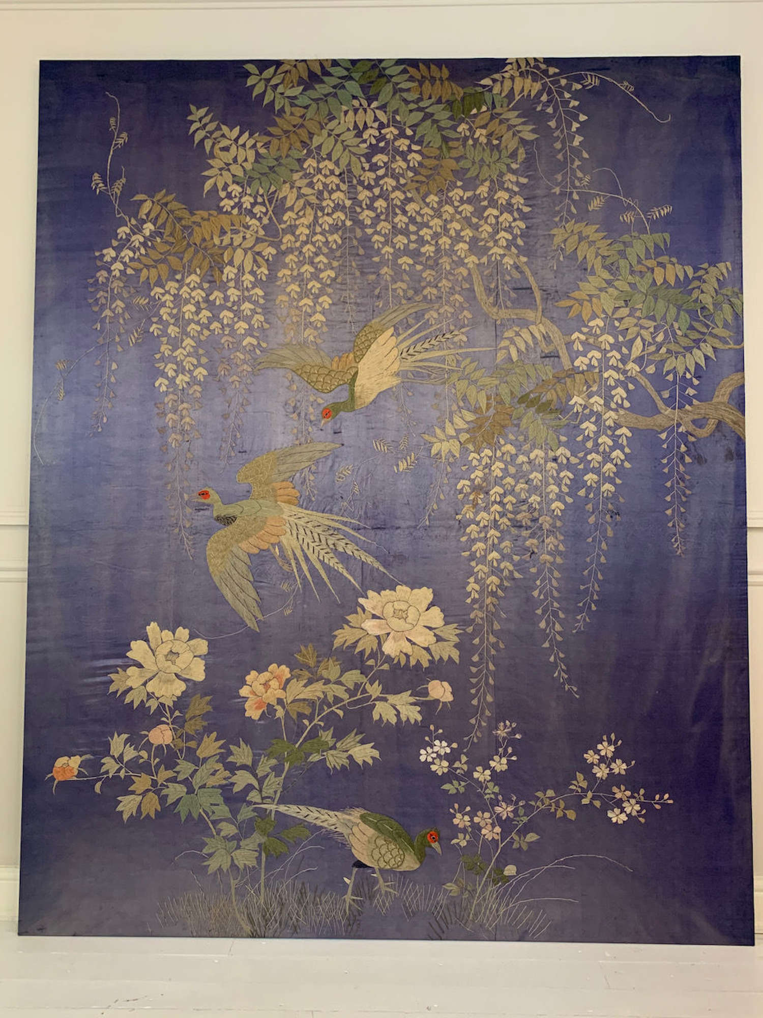 Antique Chinese embroidered panel