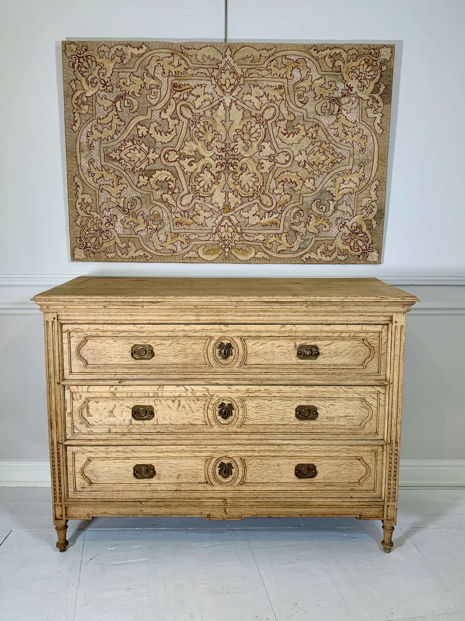 C19th bleached Oak chest of drawers